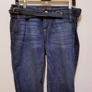 Guess Jeans Capri pants with wrap around belt
